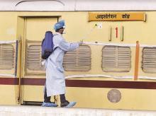 Coronavirus, indian railways, isolation coach, train, sanitisation