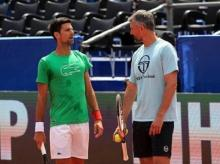 Novak Djokovic and his coach Goran Ivanisevic