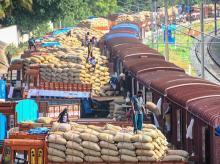 railways, stock, foodgrain, goods, economy, freight, train, transport