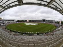 Umpires are out for inspection at The Ageas Bowl, Southampton. Photo: @ICC