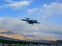 IAF IL-76 aircraft, ladakh, leh, border, lac, china