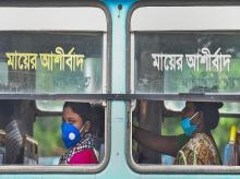 Coronavirus, women, bus, transport, bengal