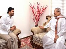 AP Governor with YS Jagan Mohan