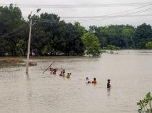 Severe floods in 16 UP districts, large-scale destruction of paddy crop