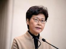 Hong Kong chief executive Carrier Lam