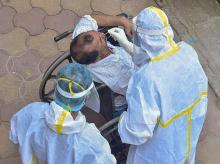 Coronavirus, testing, medics, health, disable