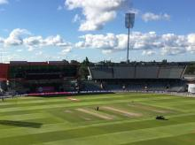 The Old Trafford ground, Manchester. Photo: @Englandcricket