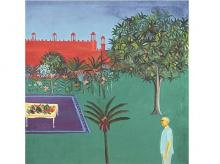 Bhupen Khakhar's portrait of his friend, Shankerbhai V Patel