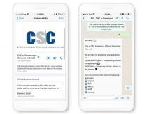 CSC's WhatsApp Chatbot