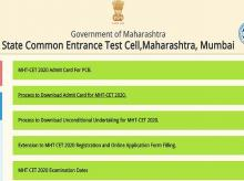 MHT CET admit card 2020