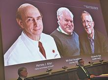 Nobel prize in medicine, Physiology, Harvey J Alter, Michael Houghton, Charles M Rice