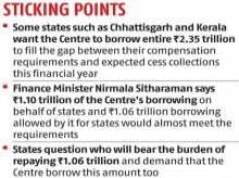 GST compensation: States refuse to relent, demand full borrowing by Centre