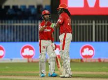 Mandeeo Singh and Chris Gayle during a match against KKR on Monday