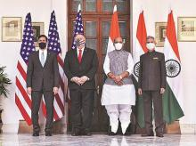 2+2 dialoge, US-India, US india, mike pompeo, rajnath singh, s jaishankar,Mark T Esper