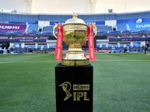 IPL 2020 trophy. Photo:  Sportzpics for BCCI