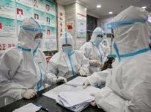 Wuhan medical staff
