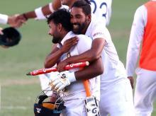 Rishabh Pant leads India to historic Test win at Brisbane. Photo: @cricketcomau
