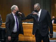 Sen. Tim Kaine, Secretary of Defense nominee Lloyd Austin