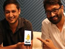 Mayank Bidawataka (Right) and Aprameya Radharishna (Left), co founders of Koo App