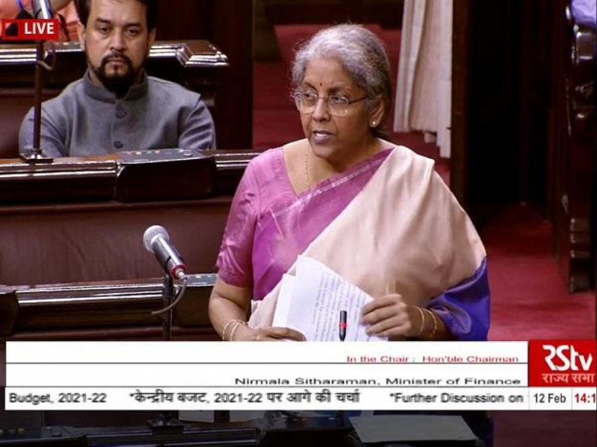 Image result for Accusing the habit of opposition, government doing work for poor and needy - Sitharaman said in Rajya Sabha