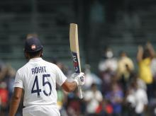 Rohit Sharma hits 130-ball hundred. Photo: Sportzpics for BCCI