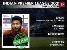 M Shahrukh Khan, IPL auction