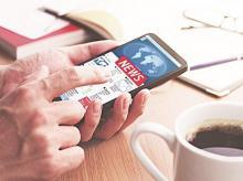 digital news media, social, portals, websites, online