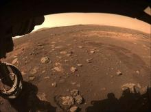 The Perseverance rover ventured from its landing position Thursday, two weeks after setting down on the red planet to seek signs of past life