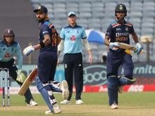 Virat Kohli and Shikhar Dhawan put up 50-run stand for second wicket. Photo: Sportzpics for BCCI