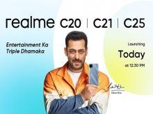 realme c20, c21, c25
