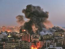 Forty-three people have been reported killed in Gaza and six in Israel since the most serious fighting since 2014 exploded on Monday night