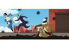 RICH vs poor, coronavirus, pandemic, lockdown, workers, inequality