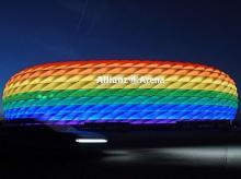Allianz Arena, Bayern Munich stadium, Germany, football, LGBTQ rights, rainbow