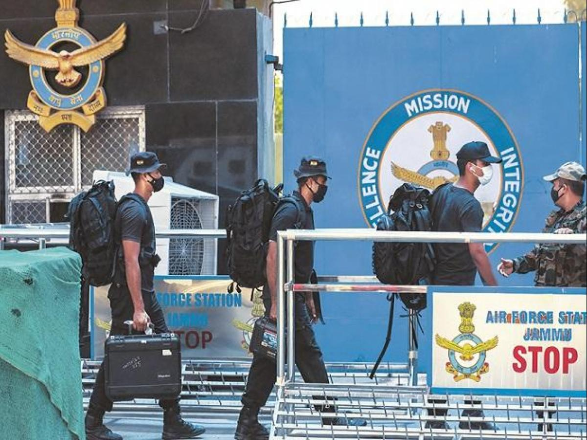In a first, drones strike at IAF station in Jammu airport; 2 injured   Business Standard News