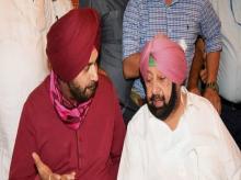 Navjot Singh Sidhu, Amarinder Singh