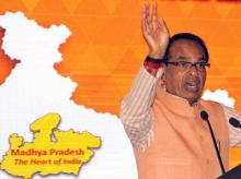 Madhya Pradesh Chief Minister Shivraj Singh Chouhan at a Make in India event at BKC in Mumbai on Wednesday, Feb 17, 2016 Picture by Suryakant Niwate