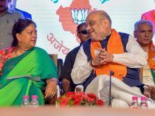 Amit shah, Vasundhra Raje