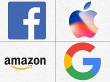 apple, google, facebook, amazon