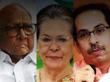 Uddhav Thackeray, Sharad Pawar, Sonia Gandhi