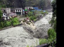 Nepal flood landslides