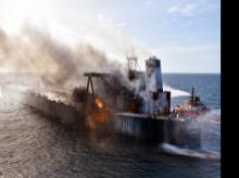 Sri Lanka, oil tanker, fire