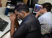 MARKETS: Indices at day's low, Sensex plunges 550 pts, holds 49,000