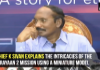 ISRO Chief K Sivan explains the intricacies of the Chandrayaan 2 mission using a miniature model